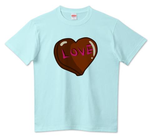 ハートチョコTシャツ